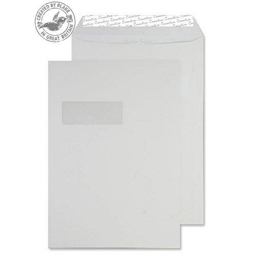 Creative Colour Milk White Pocket Window C4 Envelopes (Pack of 250)