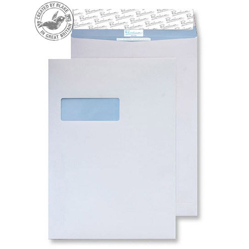 Blake Premium Secure Pocket Window P& White C4 324x229 125gsm (Pack of 125)