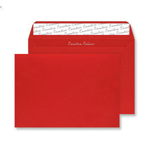 Blake Creative Colour  C4  120g/m2 Peel and Seal Wallet Envelope  Pillar Box Red  Pack of 250