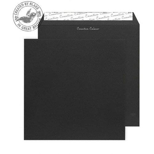 Creative Colour Jet Black Square Wallet Envelopes (Pack of 250)