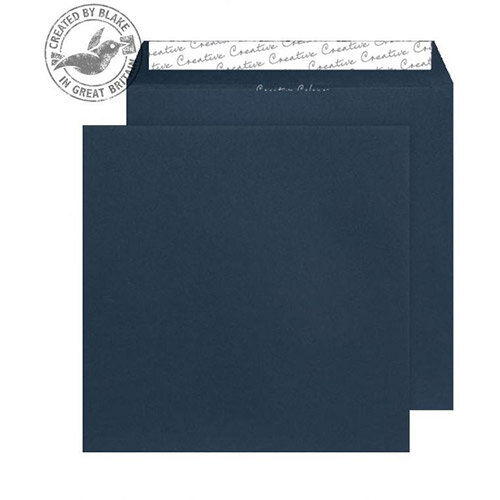 Creative Colour Square Oxford Blue Wallet Envelopes (Pack of 250)