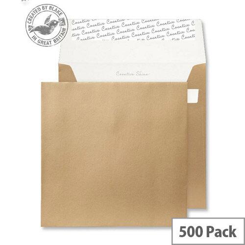 Creative Shine Metallic Gold Square Wallet Envelopes (Pack of 500)