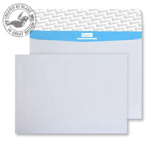 Blake Premium Secure C4 Gusset Peel and Seal 125gsm 229x324x50mm White Pack of 100
