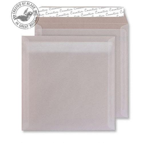 Creative Senses Square Translucent White Wallet Envelopes (Pack of 250)