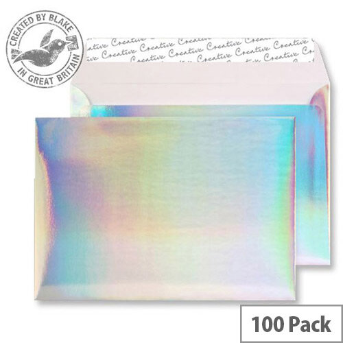 Creative Silver Shine Shimmering Rainbow C5 Envelopes (Pack of 100)