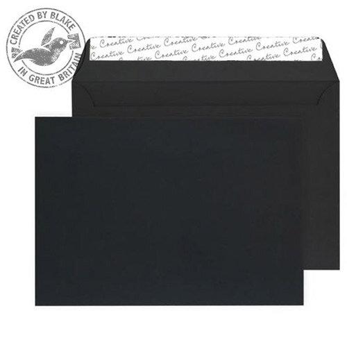Creative Senses Black Velvet C4 Wallet Envelopes (Pack of 125)