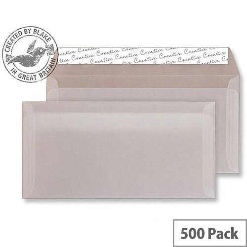 Creative Senses DL+ White Wallet Translucent Envelopes 110gsm Pack of 500