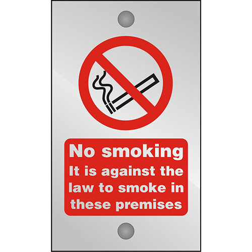 Clear Safety Sign 120x200 5mm Against The Law To Smoke Premises