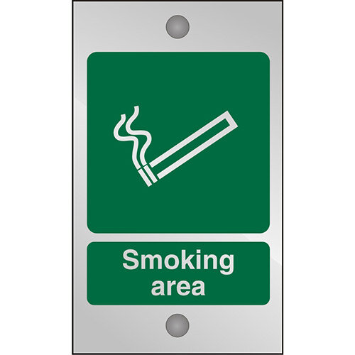Clear Acrylic Safety Sign 120x200 5mm Acrylic Smoking Area