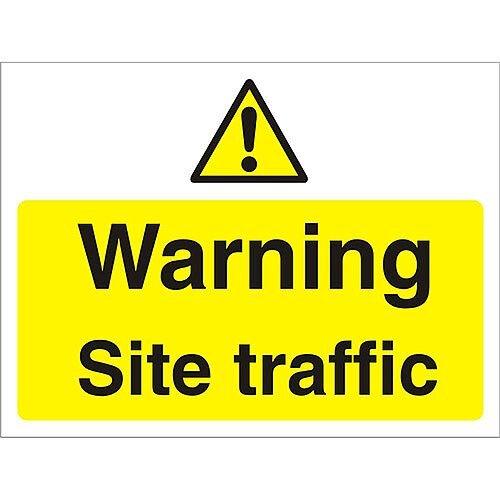 Construction Board 600x400 3mm Foam PVC Warning Site Traffic