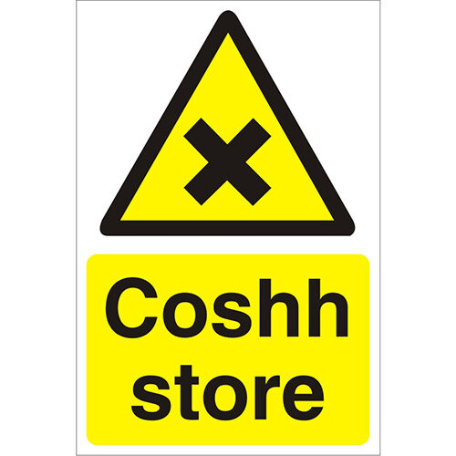 Construction Safety Board 400x600 Safety Sign 3mm Foam PVC Coshh Store