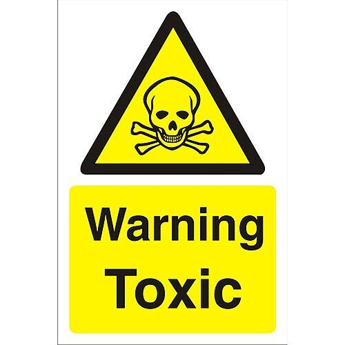 Construction Safety Board 400x600 Safety Sign 3mm Foam PVC Warning Toxic
