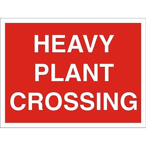 Construction Board 600x450 Safety Sign 3mm Foam PVC Heavy Plant Crossing
