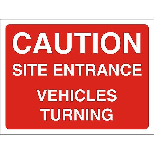 Construction Board 600x450 Safety Sign 4mm Fluted Caution Site Entrance
