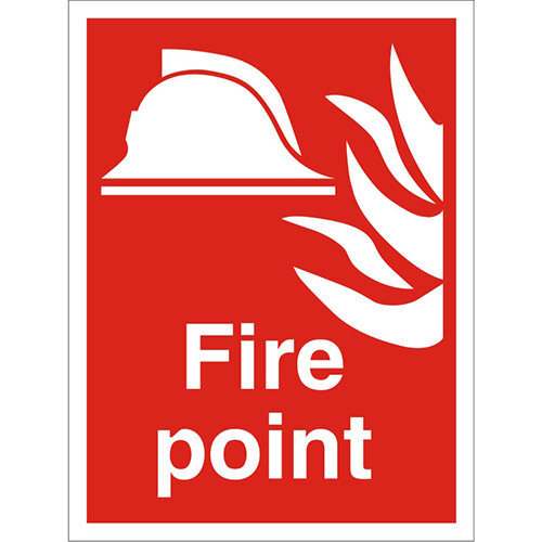 Construction Safety Board 400x600 Safety Sign 3mm Foam PVC Fire Point