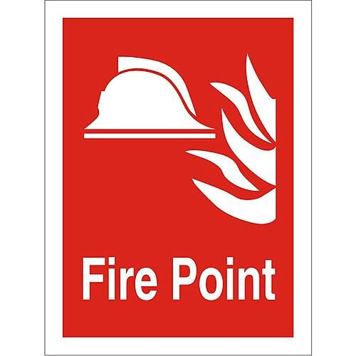 Photolum Fire Fighting Sign 200x300 Fire Point Self Adhesive Vinyl