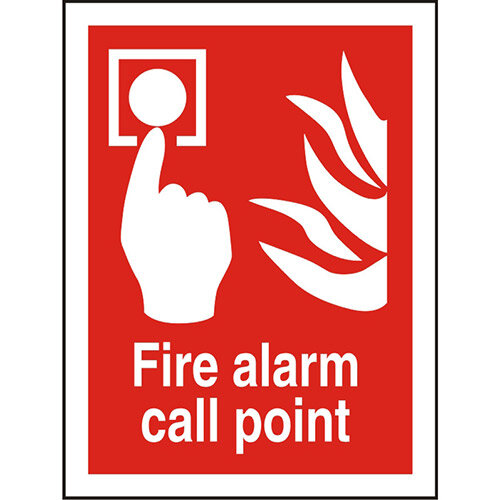 Photolum Fire Sign 200x300 Fire Alarm Call Point Ref Self Adhesive Vinyl
