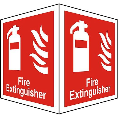 Protruding Sign 2 Faces 150x200 Each 1mm Fire Extinguisher