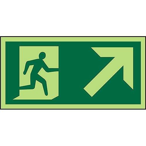 Photolum Sign 300x150 Man Running Right &Up Right Arrow PVC 1mm
