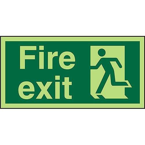 Photolu Sign 300x150 1mm Plastic Fire Exit Man Running Left