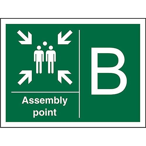 Safe Procedure Sign 600x400 1mm Plastic Assembly Point B