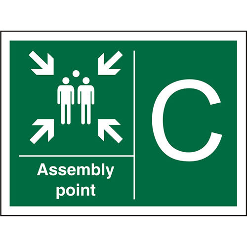 Safe Procedure Sign 600x400 1mm Plastic Assembly Point C