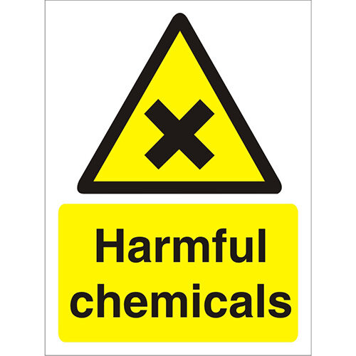 Warning Sign 300x400 1mm Plastic Harmful Chemicals