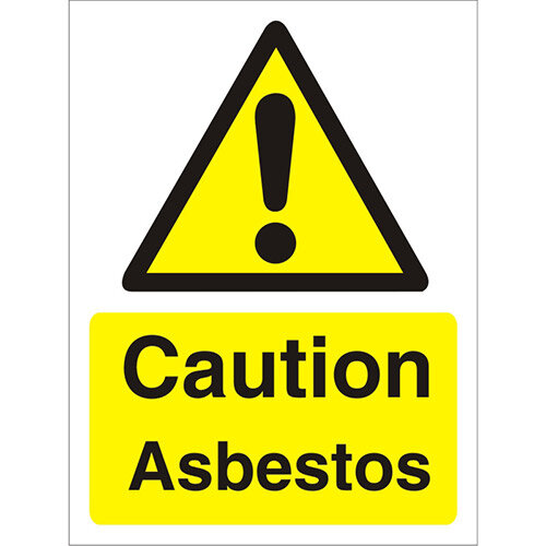 Warning Sign 300x400 1mm Plastic Caution Asbestos Pack of 1