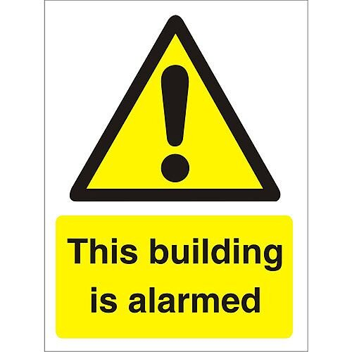 Warning Sign 300x400 1mm Plastic This Building is Alarmed