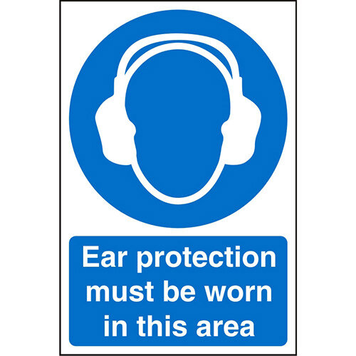 Stewart Superior Warehouse Signs 600x400 1mm Semi Rigid Plastic - Ear protection must be worn in this area