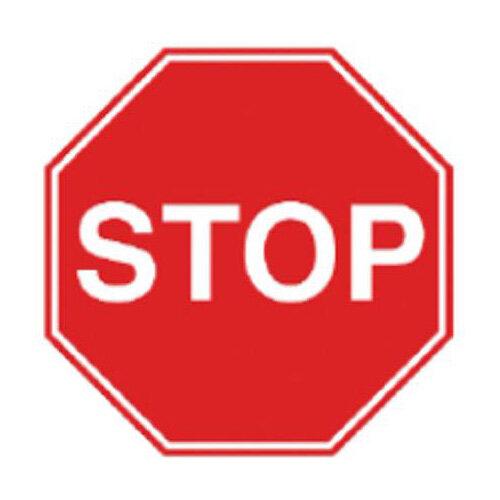 Stewart Superior Semi Rigid Plastic Sign  400x600  - Stop