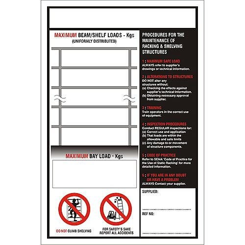 Stewart Superior Warehouse Signs 400 x 600 1mm Semi Rigid Plastic