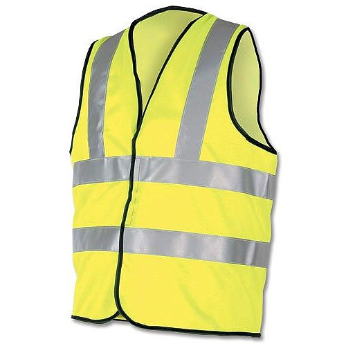 Proforce High Visibility Vest 2-Band Waistcoat Yellow Extra Large HV08YL480