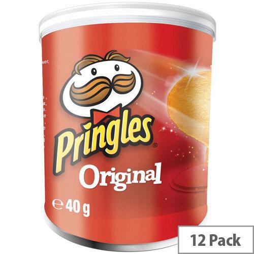 Pringles Popngo Original Unique Shape Well-seasoned Non Greasy Crisps Pack of 12