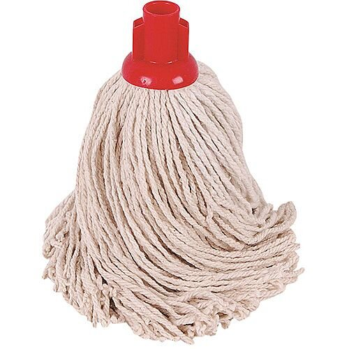Robert Scott &Sons Socket Mop Head for Smooth Surfaces PY 16oz Red Ref PJYR1610 [Pack 10]