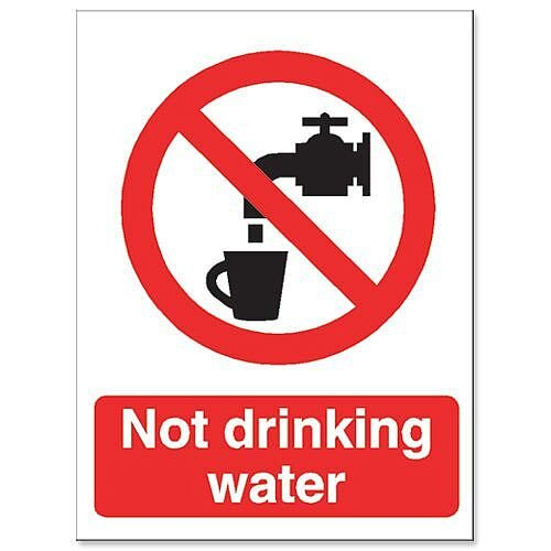 Stewart Superior Catering Sign Not Suitable for Drinking Self Adhesive Vinyl W150xH200mm
