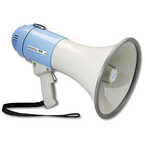 Guardian Fire Megaphone Hand-held Battery Operated with Volume Control HMP1