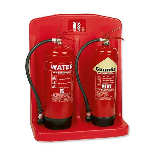 Fire Extinguisher Stand Double Glass Reinforced Plastic Guardian