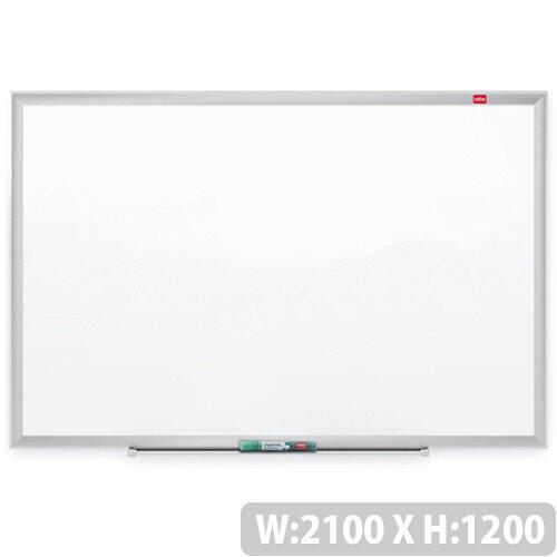 Nobo Nano Clean Steel Whiteboard Magnetic Exclusive Nano Clean Surface W2100xH1200mm White Ref 1905172