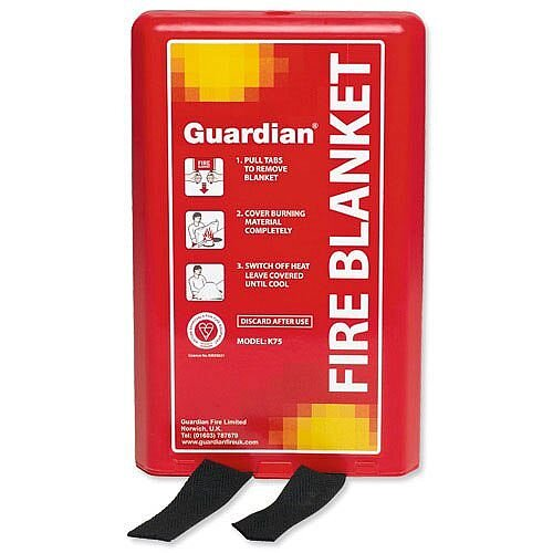 1m x 1m Fibre Glass Fire Blanket Wall Mountable /& Quick Release Tabs