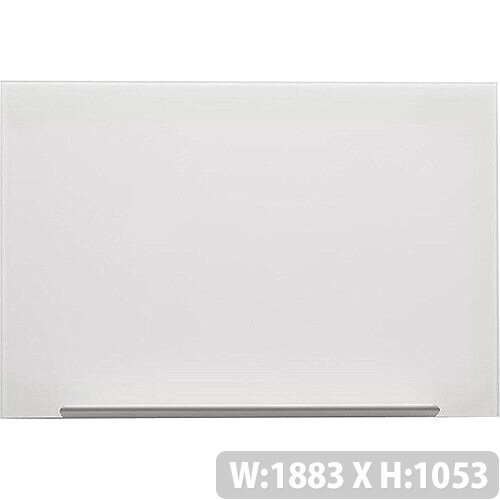 Nobo Diamond Glass Board Magnetic Scratch Resistant Fixings Included W1883xH1053mm White Ref 1905178