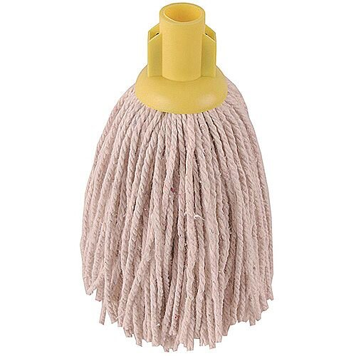 Robert Scott &Sons Socket Mop Heads for Smooth Surfaces PY 12oz Yellow Ref PJYL1210 [Pack 10]