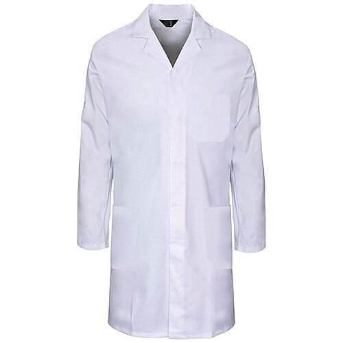 Supertouch Lab Coat Polycotton with 3 Pockets Medium White Ref 57002