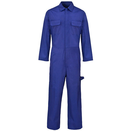 Supertouch Coverall Basic with Popper Front Opening PolyCotton Medium Navy Ref 51902