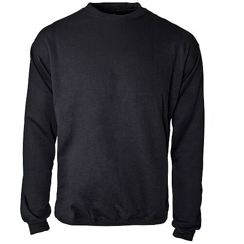 Supertouch Sweatshirt Polyester/Cotton Fabric with Crew Neck Large Black Ref 56673
