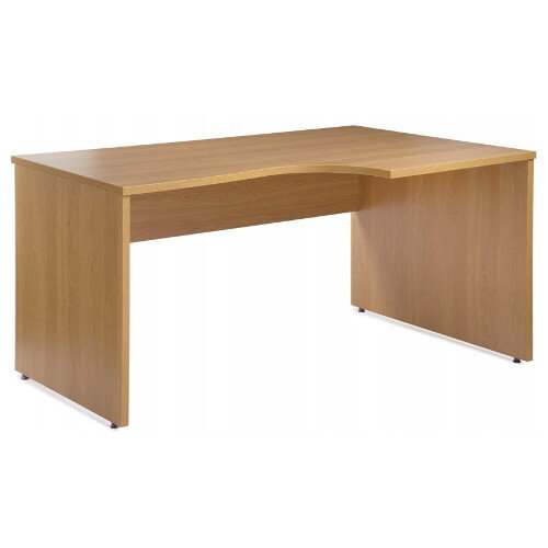 Eco Right Hand Ergonomic Desk EC1380RB Beech