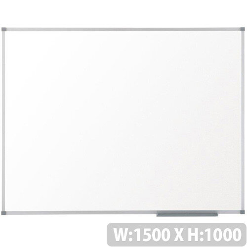Nobo Prestige Enamel 1500x1000mm Magnetic Eco Whiteboard with Aluminium Trim and Fixings Included