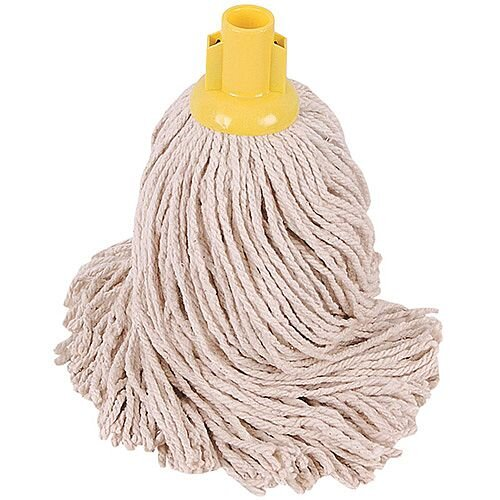 Robert Scott &Sons Socket Mop Head for Smooth Surfaces PY 16oz Yellow Ref PJYY1610 [Pack 10]