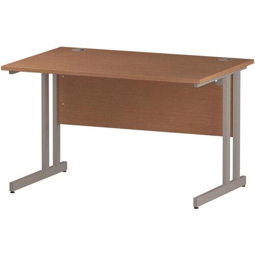 Rectangular Double Cantilever Silver Leg Office Desk Beech W1200xD800mm