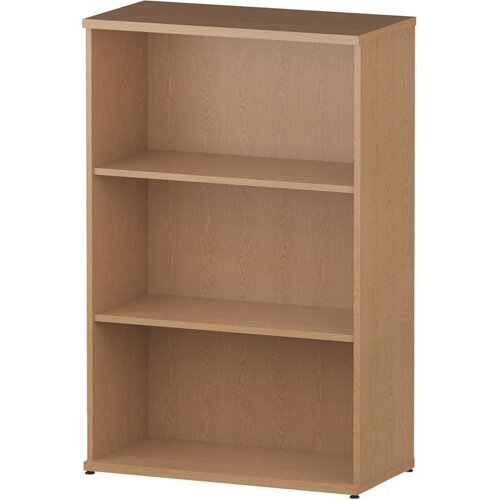 Medium Bookcase with 2 Shelves H1200mm Oak